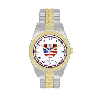 Cinta de la campaña de Afganistán Reloj