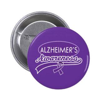 Cinta de la conciencia de Alzheimer Pin Redondo De 2 Pulgadas