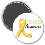 Cinta de la conciencia de COPD (cinta del oro) Imán De Frigorífico