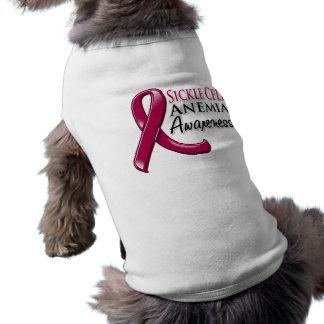 Cinta de la conciencia de la anemia de la célula f camisas de mascota