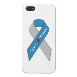 Cinta de la conciencia de la diabetes del tipo 1 iPhone 5 funda