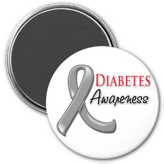 Cinta de la conciencia de la diabetes imanes