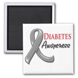 Cinta de la conciencia de la diabetes imán para frigorífico