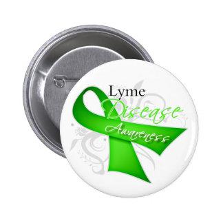Cinta de la conciencia de la enfermedad de Lyme Pin Redondo 5 Cm
