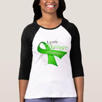 Cinta de la conciencia de la enfermedad de Lyme Remeras