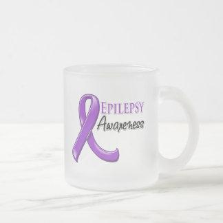 Cinta de la conciencia de la epilepsia taza de cristal