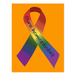 Cinta de la conciencia de la homofobia de la tarjeta postal