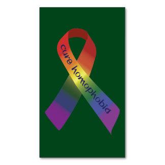 Cinta de la conciencia de la homofobia tarjetas de visita magnéticas (paquete de 25)