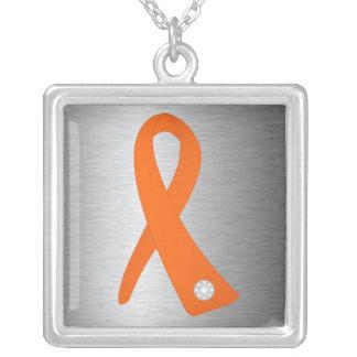 Cinta de la conciencia de la leucemia collar personalizado
