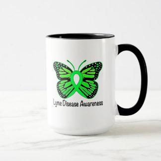 Cinta de la conciencia de la mariposa de la taza