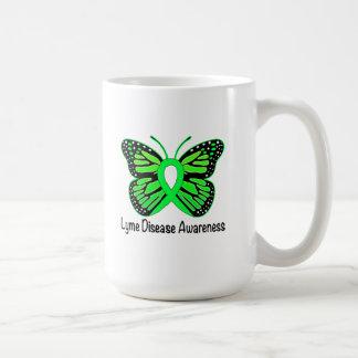 Cinta de la conciencia de la mariposa de la taza de café