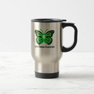 Cinta de la conciencia de la mariposa de la taza de viaje