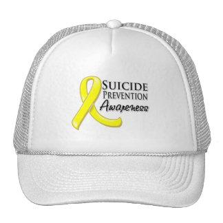 Cinta de la conciencia de la prevención del suicid gorra