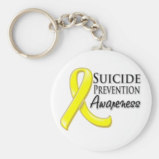 Cinta de la conciencia de la prevención del suicid llavero redondo tipo pin