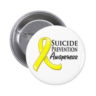 Cinta de la conciencia de la prevención del suicid pin redondo de 2 pulgadas
