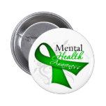 Cinta de la conciencia de la salud mental pin redondo 5 cm
