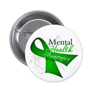 Cinta de la conciencia de la salud mental pin redondo de 2 pulgadas