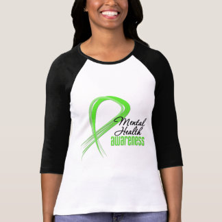 Cinta de la conciencia de la salud mental camisetas