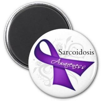 Cinta de la conciencia de la sarcoidosis imán redondo 5 cm