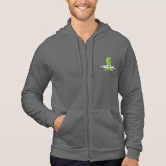 Cinta de la conciencia de la verde lima con los pulóver con capucha