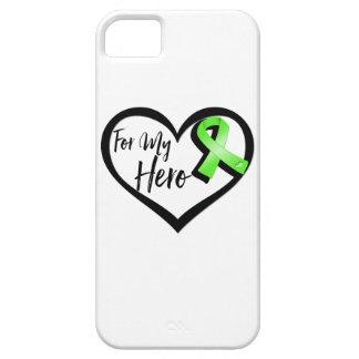 Cinta de la conciencia de la verde lima para mi funda para iPhone 5 barely there