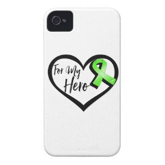 Cinta de la conciencia de la verde lima para mi iPhone 4 cárcasas