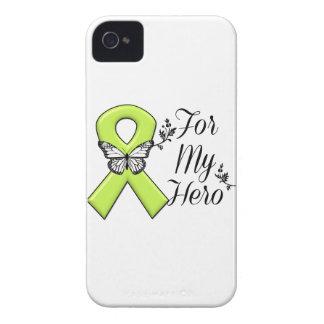 Cinta de la conciencia de la verde lima para mi iPhone 4 funda