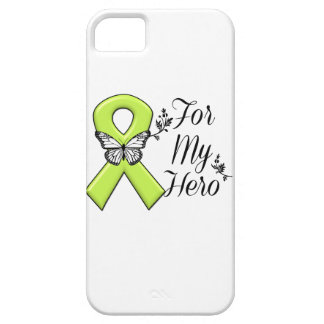 Cinta de la conciencia de la verde lima para mi iPhone 5 fundas