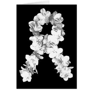 Cinta de la conciencia de las flores blancas felicitacion