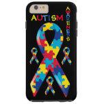 Cinta de la conciencia del autismo funda de iPhone 6 plus tough