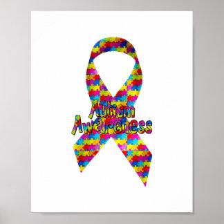 Cinta de la conciencia del autismo poster