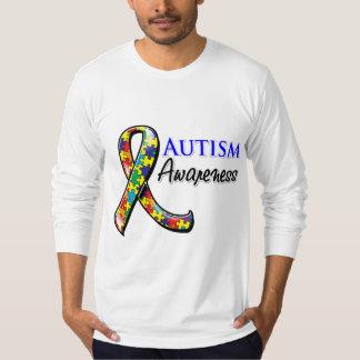 Cinta de la conciencia del autismo polera