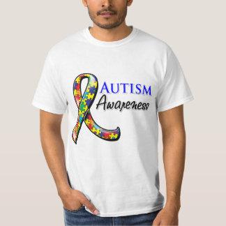 Cinta de la conciencia del autismo poleras