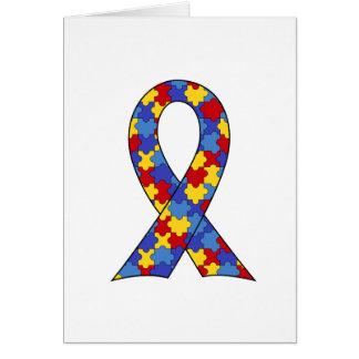 Cinta de la conciencia del autismo tarjeta