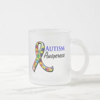Cinta de la conciencia del autismo tazas de café