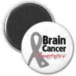 Cinta de la conciencia del cáncer de cerebro imanes para frigoríficos