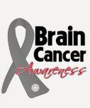 Cinta de la conciencia del cáncer de cerebro camisetas