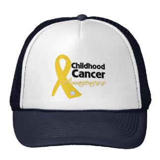 Cinta de la conciencia del cáncer de la niñez gorros bordados