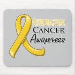 Cinta de la conciencia del cáncer de Neuroblastoma Alfombrillas De Raton