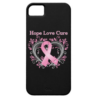 Cinta de la conciencia del cáncer de pecho de la iPhone 5 fundas