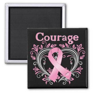 Cinta de la conciencia del cáncer de pecho del val iman de frigorífico