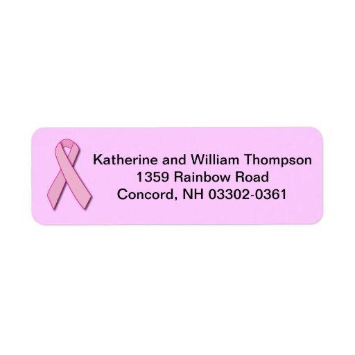 Cinta de la conciencia del cáncer de pecho etiquetas de remite