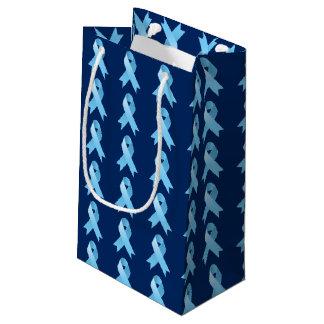 Cinta de la conciencia del cáncer de próstata bolsa de regalo pequeña