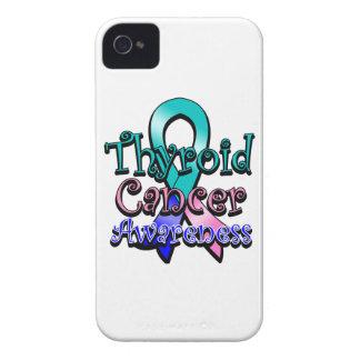 Cinta de la conciencia del cáncer de tiroides carcasa para iPhone 4 de Case-Mate