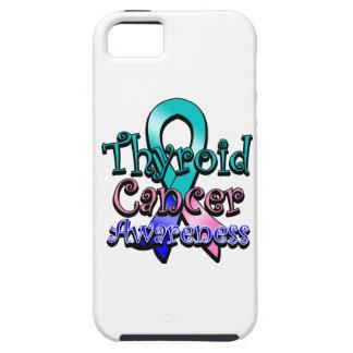 Cinta de la conciencia del cáncer de tiroides funda para iPhone SE/5/5s