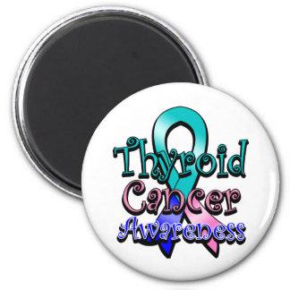 Cinta de la conciencia del cáncer de tiroides imán redondo 5 cm
