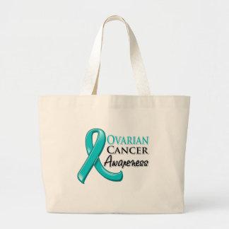 Cinta de la conciencia del cáncer ovárico bolsa tela grande