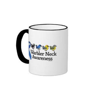 Cinta de la conciencia del cuello de la curruca taza de café