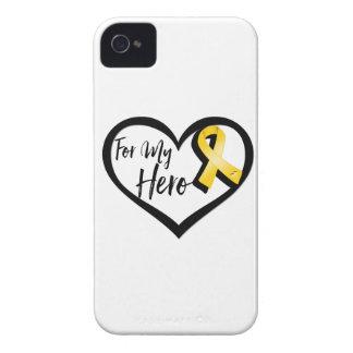Cinta de la conciencia del oro para mi héroe iPhone 4 Case-Mate fundas