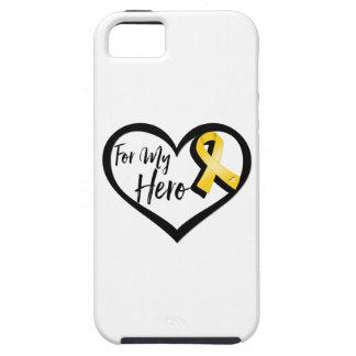 Cinta de la conciencia del oro para mi héroe iPhone 5 fundas